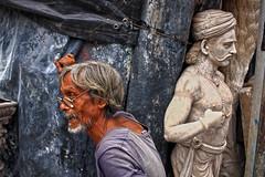 Blue eyed potter @ Kumartuli (Rajib Singha) Tags: travel street people portrait outdoor age art inexplore interestingness flickriver nikond200 kumartuli kolkata westbengal india