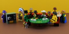 Lego poker face :I (Alex THELEGOFAN) Tags: lego legography cowboy cow boy sheriff star hat indian tribal chief naked nude gold nugget nuggets minifigures minifigure minifig minifigs minifigurine
