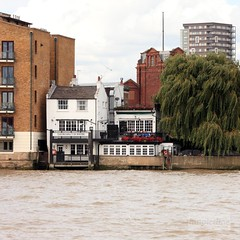 Prospect of Whitby (innpictime ζ♠♠ρﭐḉ†ﭐᶬ₹ Ȝ͏۞°ʖ) Tags: pub bar water river riverside london thames londonriver prospectofwhitby wapping flowers balcony