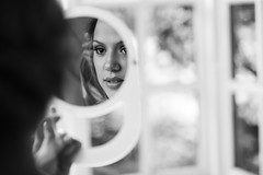 The Girl in the Mirror (Ida H) Tags: portrait portraiture person woman girl mirror reflection weddingphotographer wedding weddingpreparations weddinggettingready gettingready bridalpreparations bridalprep bridal bride beauty eyes