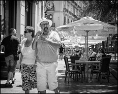 Mr Angry (Photoburglar) Tags: valencia spain nikon d610 blackandwhite mono monochrome street urban candid sun people angry grumpy hat portrait