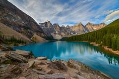 Lake Moraine from up top (ShutterBugWithGlasses) Tags: alberta canadianrockies lakes canada lakemoraine banff
