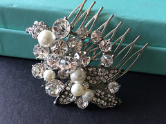 Sparkle Swarovski rhinestones crystals and pearls wedding bridal hair comb, bridal comb, wedding comb, prom, engaged, hair accessory (weddingvalle) Tags: wedding weddings party fashion style prom statement engaged love like pearls woman rhinestones crystals handmade weddingvalle hair comb headpiece accessory jewelry