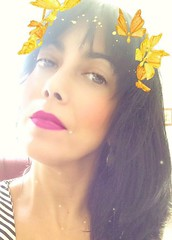 (Vallelitoral) Tags: snapchat filtro woman girl kawaii chica mujer beauty beautiful cute nice retro vintage mariposas butterfly portrait retrato iphone iphonegraphy flickr fickraward