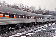 P&W Polar Express Christmas Train (robtm2010) Tags: christmas railroad usa trains rhodeisland pw christmastrain woonsocket passengercars providenceworcesterrr polarepress