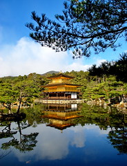 () -Rokuon-ji Kyoto Japan (J.D Chen ) Tags: trip travel vacation japan nikon tour jr   osaka backpacker  kinkakuji rokuonji  d80