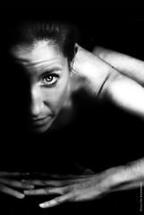 Negro satén (NROmil) Tags: woman white black art luz yoga mujer eyes noir arte negro ojos contraste mirada én blaco