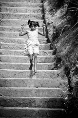 Innocence (Prem Kandasamy) Tags: bw white black stairs asia child adams little peak sri lanka innocence ceylon maskeliya