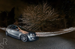 (SRonicle) Tags: lighting street snow vw mercedes exposure flash low wheels automotive fisheye iso 8mm sr polo 1000 slammed treet strobist volkswaggen ronicle sronicle