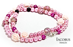 Pink Rose collection by Crazy Katz Jewellery. (Iacobus Images) Tags: camera pink light red roses glass photography necklace beads nikon hand heart flash sb600 off tent made product vr 18105 d90 crazykatzjewellery iacobusimages