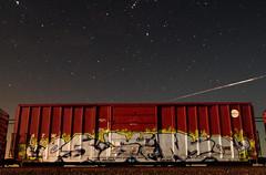SEM TBK |EXPLORED (Runtrains) Tags: railroad sky train stars graffiti star long exposure sem tbk shooting freight constellation endtoend explored runtrains