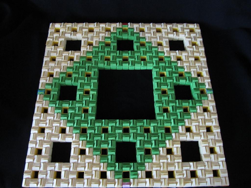 Sierpinski Carpet 3d Level Back PankOri Tags Origami Jackson Cube