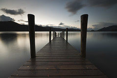 Ashness Jetty (djshoo) Tags: longexposure autumn england sky lake mountains water clouds landscape lowlight colours dusk lakedistrict cumbria derwentwater bluehour keswick eveninglight wideanglelens d90 sigma1020 leefilters nikond90 ashnessjetty