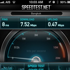 Long time no test. 3BB public WiFi speed test at office.