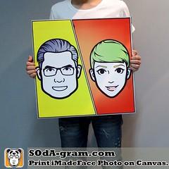 ของขวัญให้แฟน ของขวัญวาเลนไทน์ SOdA-gram.com Print #iMadeFace Photo on Canvas. จัดส่งถึงบ้านใน 3 วันทำการ @SOdAgram ปกติราคา 1700 บาท ลดเหลือ 999 บาท  สั่งง่ายๆ แค่saveรูปแล้วส่วมาทาง line :: iczzcream ส่วนที่เหลืออีก3วันรอรับที่บ้านได้เลย #SOdAgram