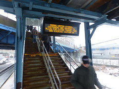 LIRR Warning About Winter Storm Nemo February 8, 2013 (americasroof) Tags: hunterspoint lirr feb08 201301 winterstormnemo