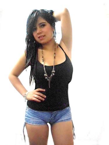 Sexy latina in shorts