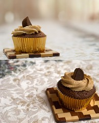 Cupcakes! (Daniel.Lam) Tags: lighting cactus food blur cup field cake umbrella out photography 50mm baking blurry nikon focus diptych dof bokeh background daniel blurred cupcake reese wireless nikkor 18 bake depth peices lam reeses strobe oof v5 triggers d80 daniellam of foodgraphy reesespeices daniellamphotography reesespeicescupcake
