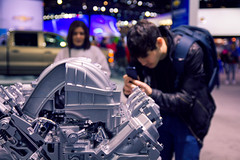 Lorenzo Live Instagramming Engines (andrewpabon) Tags: auto show chicago engine lorenzo iphone 2013 instagram chicagoautoshow2013