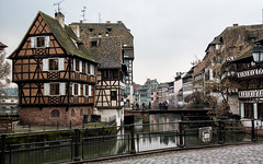 Strasbourg, Quartier Petite-France (raphael.chekroun) Tags: street old travel winter france tourism architecture buildings germany gloomy cloudy east strasbourg alsace est