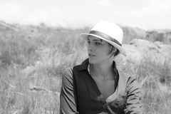 Belinda (nils.rohwer) Tags: woman hat blackwhite pretty quantani