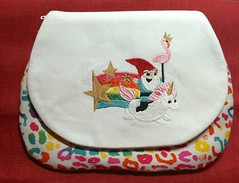 Rainbow Unicorn Pouch (SummeryCreations) Tags: rainbow embroidery pouch accessories