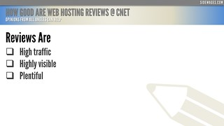 How Good are Web Hosting Reviews @ CNET - PowerPoint Slide #2