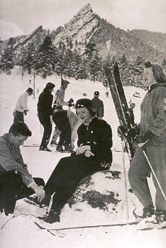Photo - Historic photo of skiing at Chautauqua