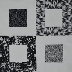 Block for Jean 1 (jenjohnston) Tags: white black quiltblock squareinsquare quiltingbee