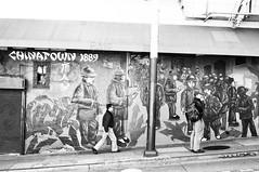 Chinatown Mural (Nick Lambert!) Tags: sanfrancisco street blackandwhite bw chinatown fuji streetscape chinatownmural fujix100 fujinonasphericallens