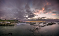 Chalky Beach Pano (Jake Lines) Tags: panorama beach sunrise photo rocks long head pano land exsposure chalky
