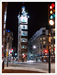 Glasgow Cross Tolbooth Steeple (Ben.Allison36) Tags: street uk night photography scotland high cross shot nightshot glasgow steeple highstreet londonroad saltmarket tolbooth glasgowcross trongate gallowgate olympuse600