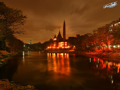Its going to rain soon (Jahaj Bari ) (Meer Sadi) Tags: longexposure panorama lake by reflections photography lights nikon meer cloudy shots multiple dhaka reds dhanmondi sadi d90 jahajbari