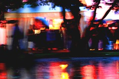 summer party (Wackelaugen) Tags: party summer blur color reflection germany europe stuttgart blurred sommerfest eckensee