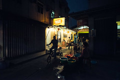 Tai O Village Night Biking (candersonclick) Tags: china vacation hongkong asia honeymoon lily streetphotography kowloon fishingvillage 2012 lantauisland lantau taio nikond600 tankavillage