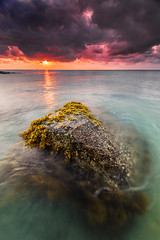 under the clouds (Explored) (Mk Azmi) Tags: light sea motion beach nature rock vertical sunrise nikon slow images malaysia shutter getty nikkor terengganu gettyimages teluk d600 kemaman kalong singhray reversegnd nikkorafs1635mmf4edvr