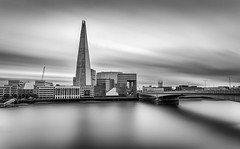 The Shard (Alan Reeve) Tags: london theshard longexposure filter hitech mono thames bridge hospital black white