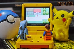 Classic Pokmon Game Time! :D (parik.v9906) Tags: game games d90 nikon pokemon20 fire red firered pokemon pikachu specialedition advance color gameboy fun days project 365project 365days 365 minifig minifigures minfigure legos lego