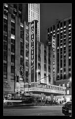 ... on air.... (rokiely) Tags: nikon newyorkcity nyc radiocitymusichall 35mm d5200 blackwhite bianconero bigapple