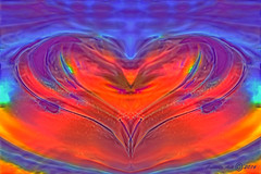 Rising heart (Camilla's photos! Thank you for viewing ) Tags: abstract art olympus digital manipulation photoshop hearts love crystal fire water red orange blue purple expression phoenix wings bird center imagination norway