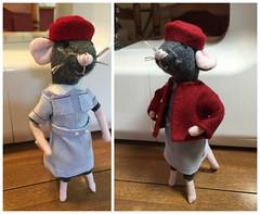 Ready for Work (Foxy Belle) Tags: mouse miniature handmade dollhouse 112 doll poseable felt bendable diy craft nurse midwife call uniform vintage medical