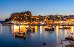 Parga by night! (dimitrisrentis) Tags: hellas parga marine water landscape light beauty buildings boat blue colour city colourful castle rock sea nikon night d5200 ship graphic architecture view scenery outdoor macedoniagreece macedonian makedonia timeless