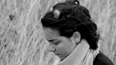 Candide Portrait (patrick_milan) Tags: noiretblanc blackandwhite noir blanc monochrome nb bw black white street rue people personne gens streetview fminin femal femme woman women girl fille belle beautiful portrait face candide