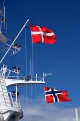 Copenhagen to Oslo (Lars Plougmann) Tags: norway denmark ferry ship flag dfds superstructure sea dscf4604