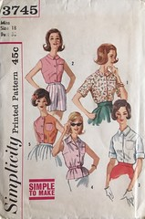 3745 (mrogers1@uw.edu) Tags: blouse 1960s sewing patterns simplicity skirts blouses pants vests