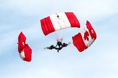 Canadian Forces Skyhawks (heathergough) Tags: skyhawks canadianarmedforcesskyhawks parachute parachuteteam parabatics canadianarmedforcesparachuteteam airshowlondon airshow