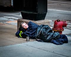 HRC (C_Dubyaa) Tags: hillary rodham clinton mask sleeping bag fire hydrant chicago chicagoist