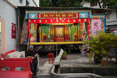 The Chinese Opera scene - TIONG BAHRU QI TIAN GONG TEMPLE (waex99) Tags: 2016 bahru gong leica m262 qi singapore summaron summilux temple tian tiong tiongbahruqitiangongtemple chinese religion tradition opera scene