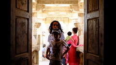 @ the temple (shahmurai) Tags: fujifilmxt1 mithi nagarparkar thar sindh pakistan kids portrait backlit boy girl shahvezkhanaliani laylanooraliani