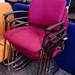 Ex demo mdf chrome frame chair